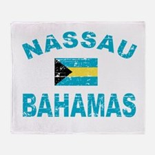 Nassau Bahamas designs Throw Blanket