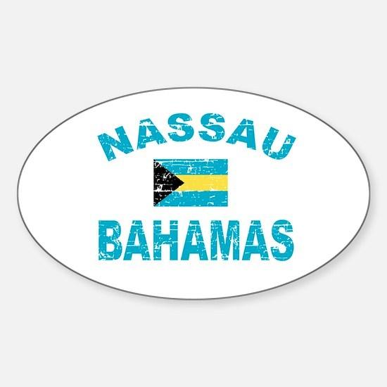 Nassau Bahamas designs Sticker (Oval)