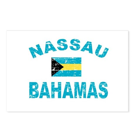 Nassau Bahamas designs Postcards (Package of 8)