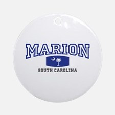 Marion South Carolina, SC, Palmetto State Flag Orn