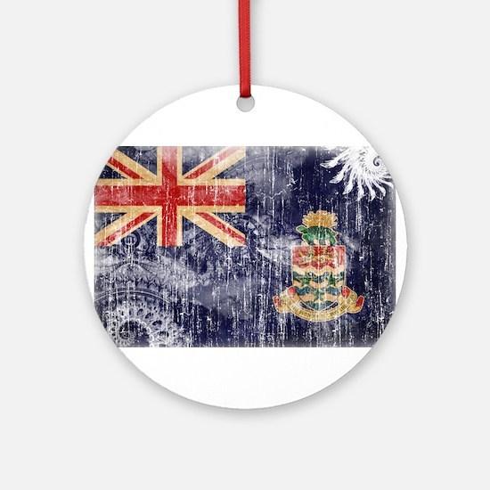 Cayman Islands Flag Ornament (Round)