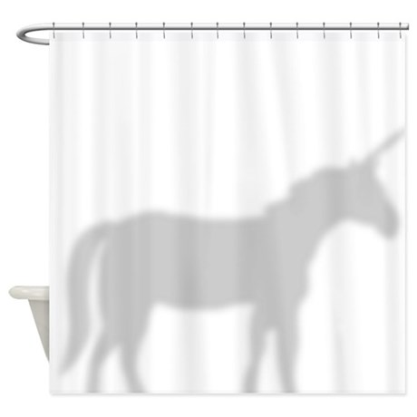Unicorn Silhouette Shower Curtain Shower Curtain
