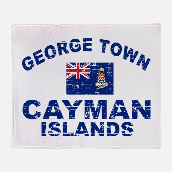 George Town Cayman Islands designs Throw Blanket
