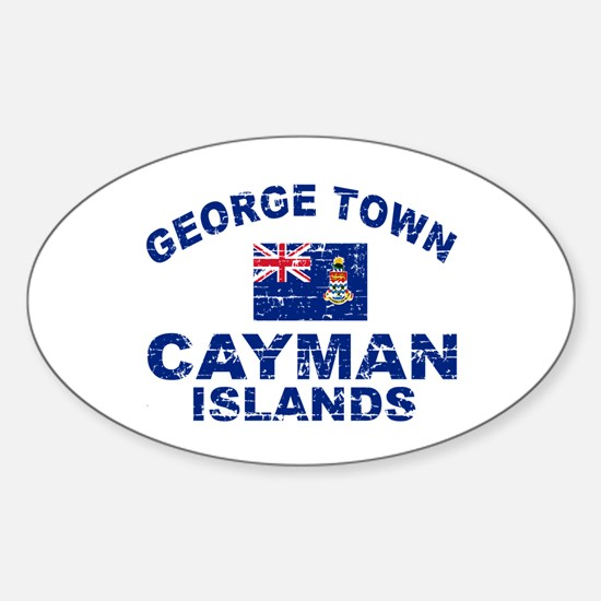 George Town Cayman Islands designs Sticker (Oval)