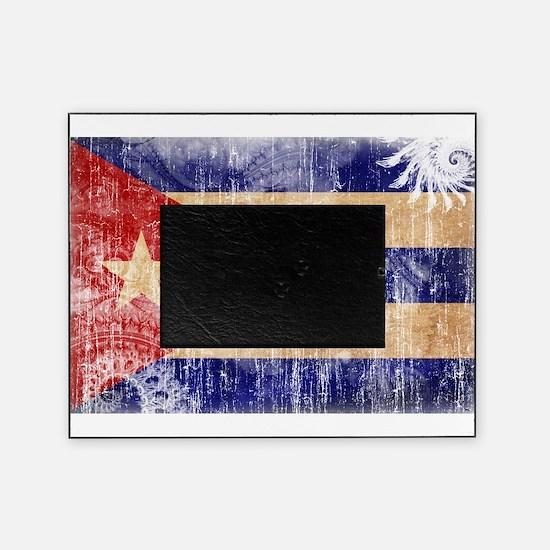 Cuba Flag Picture Frame