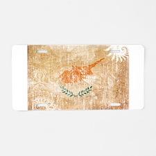 Cyprus Flag Aluminum License Plate