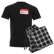 Aubrie, Name Tag Sticker Pajamas