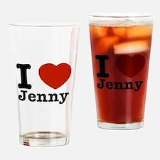 I love Jenny Drinking Glass