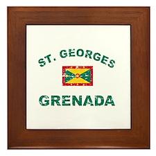 St. Georges Grenada designs Framed Tile