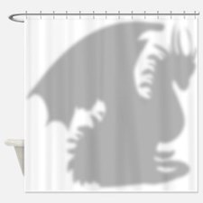 Dragon silhouette shower curtain Shower Curtain