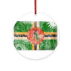 Dominica Flag Ornament (Round)