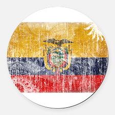 Ecuador Flag Round Car Magnet
