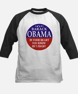 Obama - You Know He's Right Kids Baseball Jersey