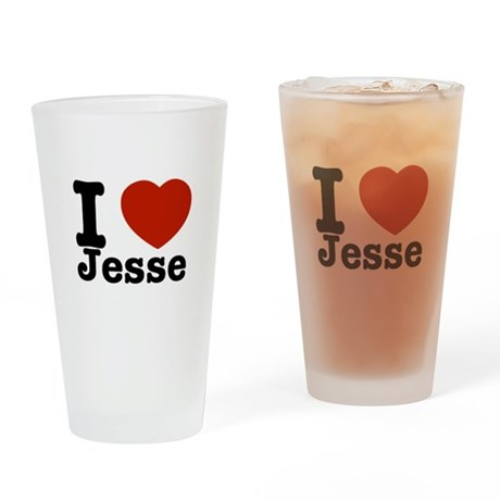 I love Jesse Drinking Glass