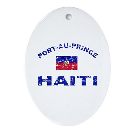 Port-Au-Prince Haiti designs Ornament (Oval)