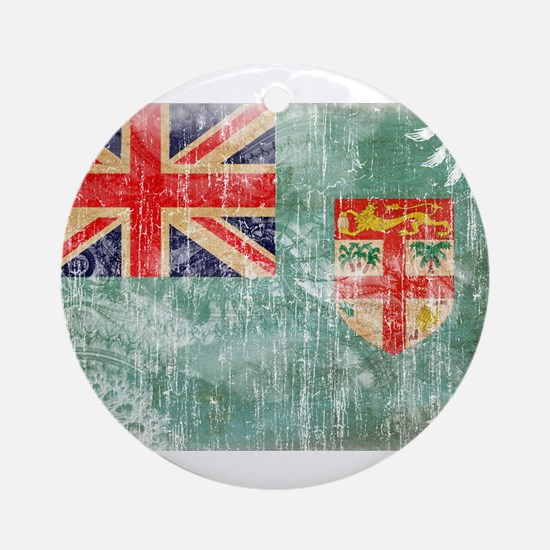 Fiji Flag Ornament (Round)