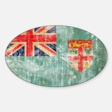 Fiji Flag Sticker (Oval)