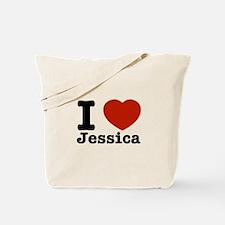 I love Jessica Tote Bag