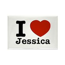 I love Jessica Rectangle Magnet