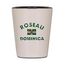Roseau Dominica designs Shot Glass