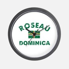 Roseau Dominica designs Wall Clock