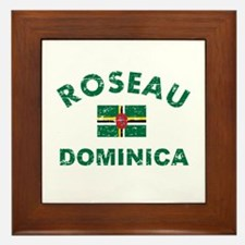 Roseau Dominica designs Framed Tile