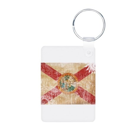 Florida Flag Aluminum Photo Keychain