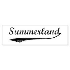 Summerland - Vintage Bumper Bumper Sticker