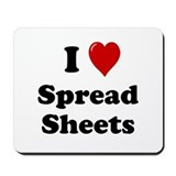 Spreadsheet Mouse Pads