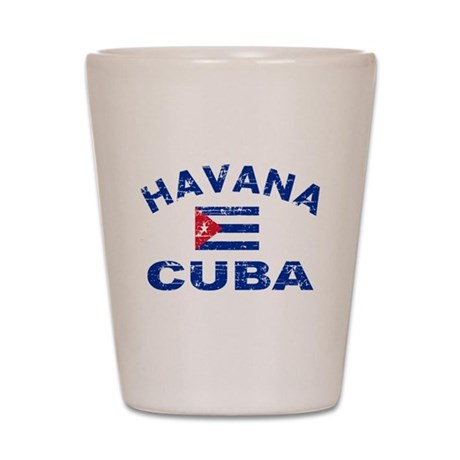 Havana Cuba designs Shot Glass
