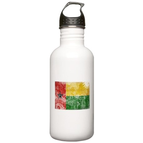 Guinea Bissau Flag Stainless Water Bottle 1.0L