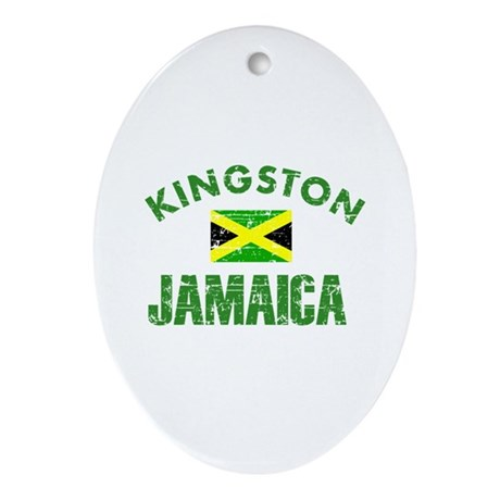 Kingston Jamaica designs Ornament (Oval)