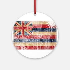 Hawaii Flag Ornament (Round)