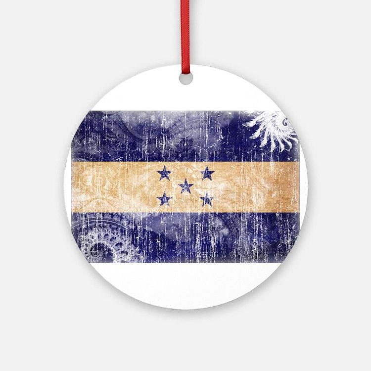 Honduras Flag Ornament (Round)