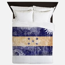 Honduras Flag Queen Duvet