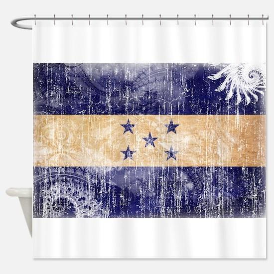 Honduras Flag Shower Curtain