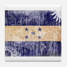 Honduras Flag Tile Coaster