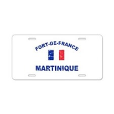 Fort De France Martinique designs Aluminum License