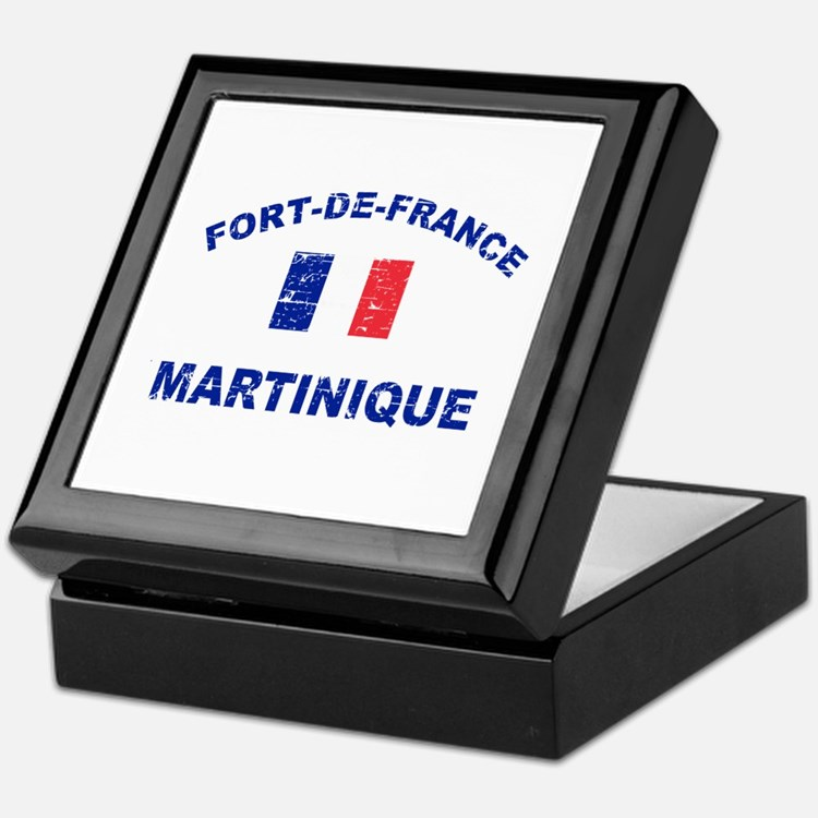 Fort De France Martinique designs Keepsake Box