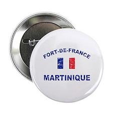 """Fort De France Martinique designs 2.25"""" Button"""