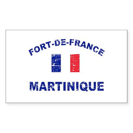 Fort De France Martinique designs Sticker (Rectang