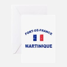 Fort De France Martinique designs Greeting Card