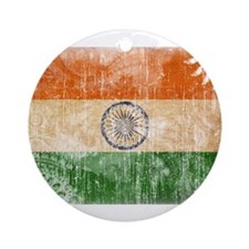 India Flag Ornament (Round)