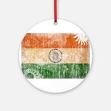 India Flag Ornament (Round)