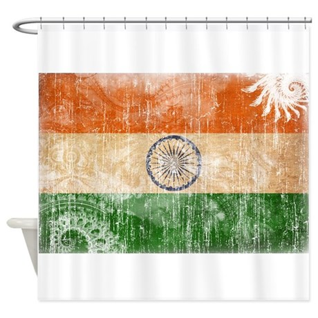 India Flag Shower Curtain By Fadedpaisleyflags
