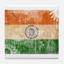 India Flag Tile Coaster