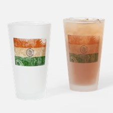 India Flag Drinking Glass