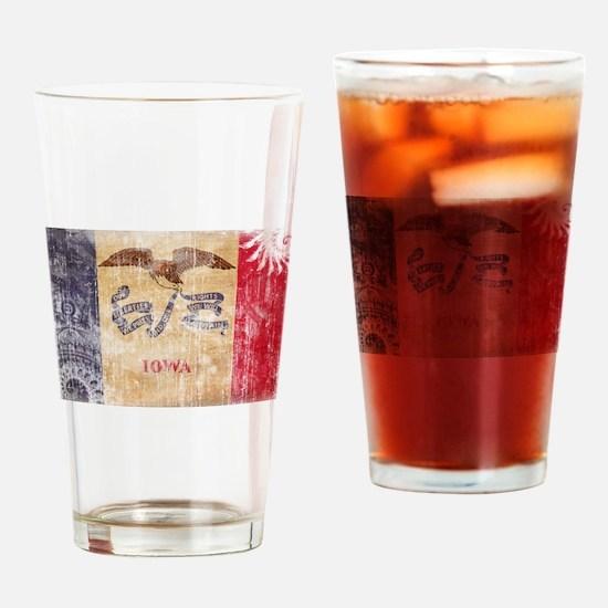 Iowa Flag Drinking Glass