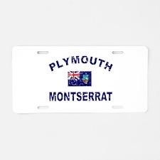 Plymouth Montserrat designs Aluminum License Plate