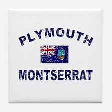 Plymouth Montserrat designs Tile Coaster